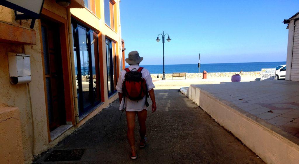 Auf dem Weg zum Strand in Paleochora