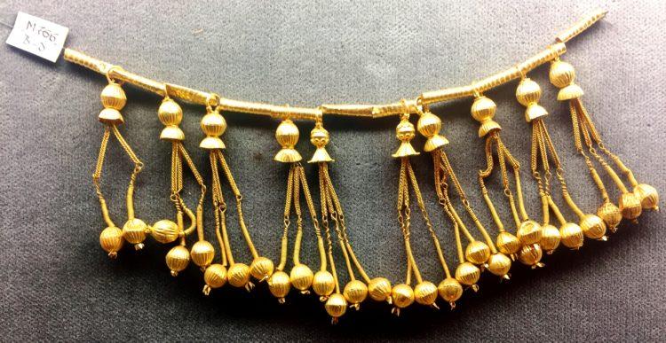 archäologischer goldschmuck halskette