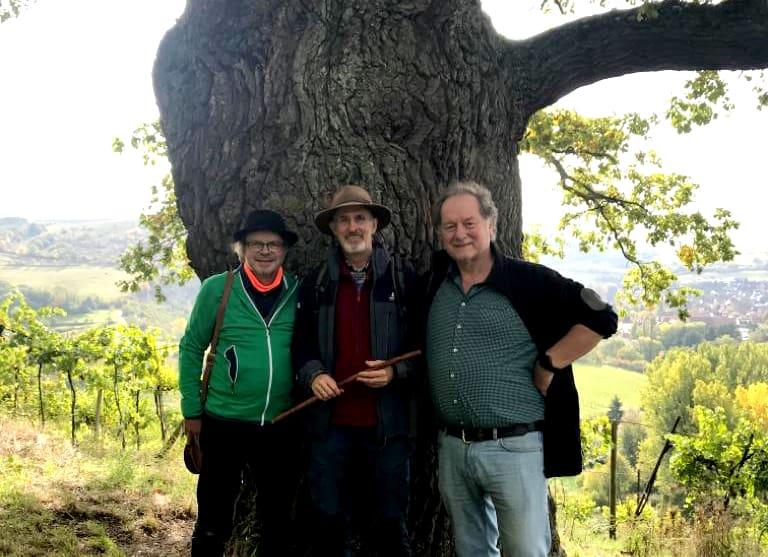 Uwe,Karl-Lutz, Otmar vor der Eiche, Sabach Connection