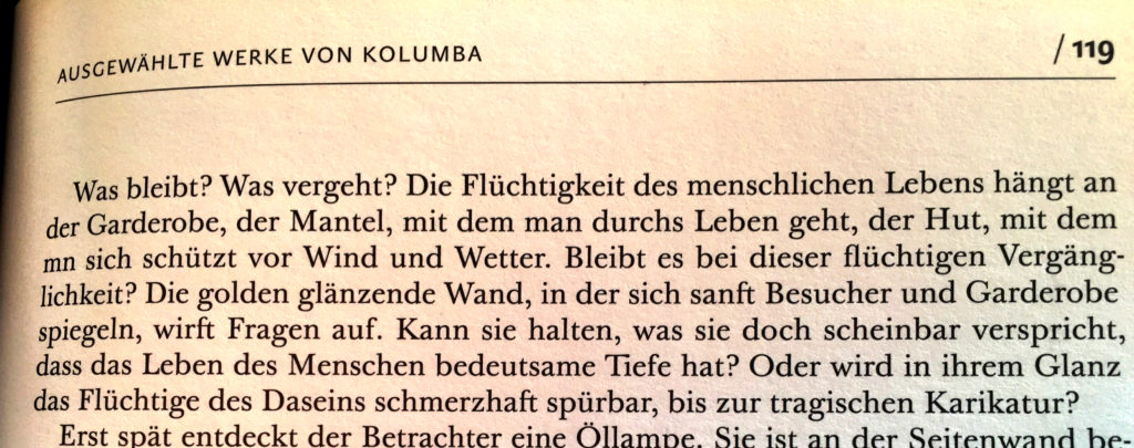 Text zu Kounellis,