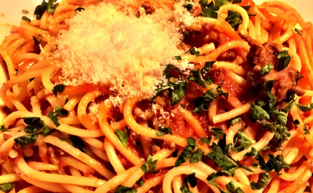 Spaghetti bolognese, Nudeln