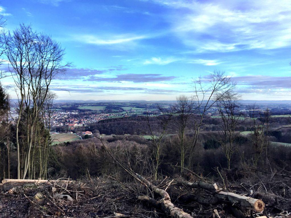 Aussicht, Teutoburger Wald, Hermannsweg, Ravensberger Mulde, Westfälische Pforte,