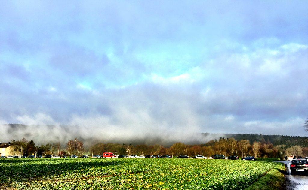 Wiehengebirge, Rödinghausen, Wolken, Silvesterlauf, Sonne