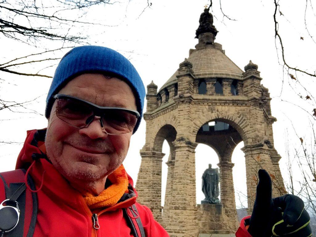 Kaiser Wilhlem Denkmal, Porta Westfalica, Wanderer, Selfie,