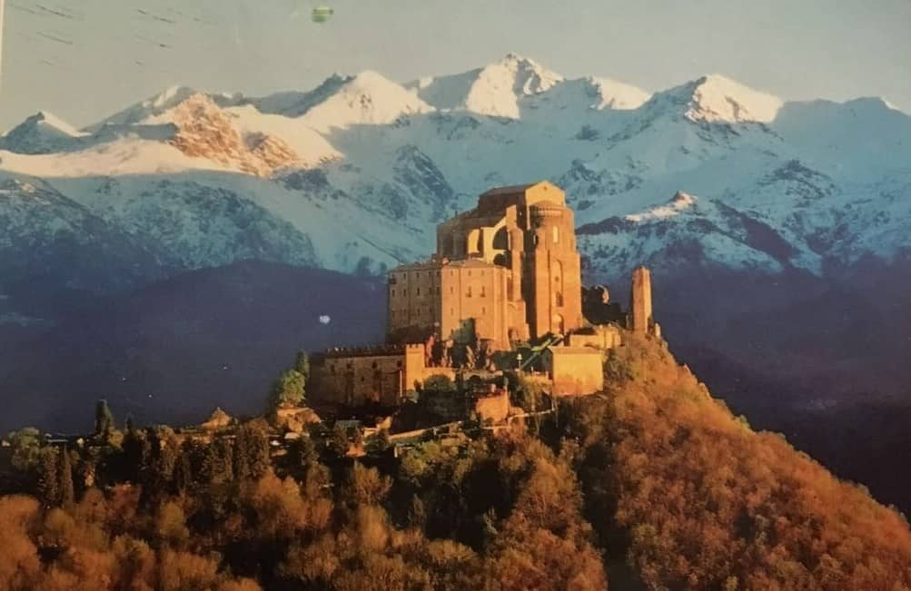 Postkartenmotiv, San Michele, Alpen,