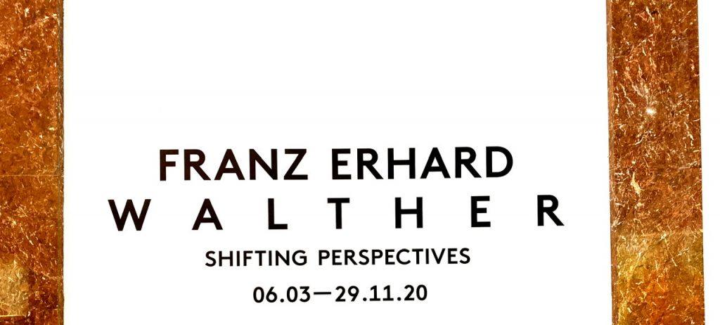 Schriftbild Ausstellung Franz Erhard Walther, Haus der Kunst, München