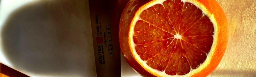 Tarocco Orange angechnitten