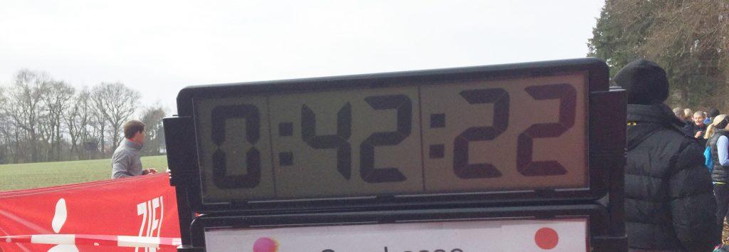 Uhr, Zeitnehmer, Ziel, Silvesterlauf