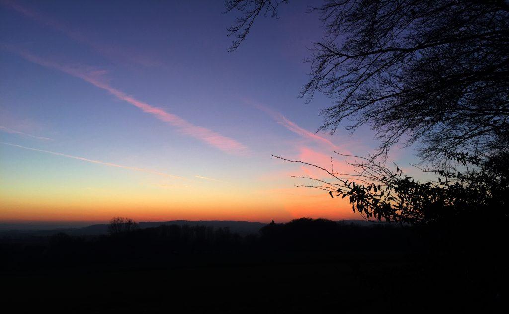 Sonnenuntergang, Abendrot, Rödinghausen,